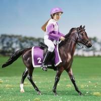 Breyer Race Horse Model & Jockey Doll Playset