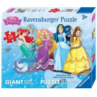 Disney Pretty Princesses 24 pc Shaped Floor Puzzle