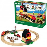 Brio Farm Railway 20 pc Wooden Train Set
