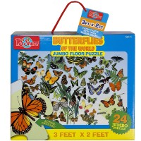 Butterflies of the World 24 pc Jumbo Floor Puzzle