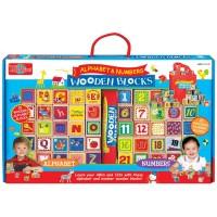 Alphabet & Numbers Cutesie Wooden Blocks