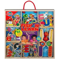 Fish 'n Learn Magnetic Fishing ABC's 52 pc Wooden Set