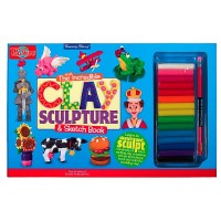 Clay Sculpture Craft Kit & Sketch Book
