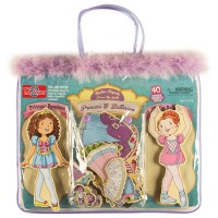 Princess & Ballerina Wooden Magnetic Dress-Up Dolls