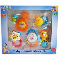 Baby Sounds Music Set of 5 Rattles