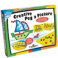 Creative Peg a Picture 96 pc Mosaic Pegboard