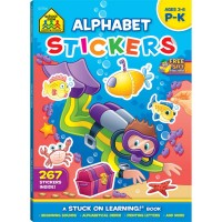 Alphabet Stickers 64 Pages Preschool Learning Activity Book