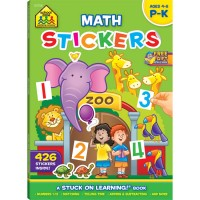 Math Stickers 64 Pages Preschool Learning Activity Book
