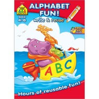 Alphabet Fun Workbook - Write-on & Wipe-off 26 Pages