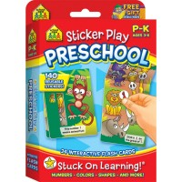 Shapes & Numbers Sticker Play Preschool Interactive Flash Cards