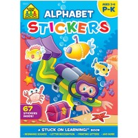 Alphabet Stickers Preschool Learning Activity Book