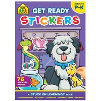 Get Ready Stickers Preschool Learning Activity Book