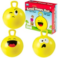 Emoji Hoppy Ball 18 Inches Hopping Ball with Pump