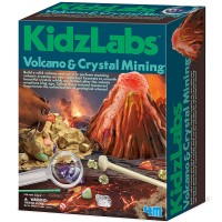 KidzLabs Volcano & Crystal Mining Combo Science Kit