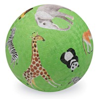 Safari Animals 7 inch Green Play Ball for Kids