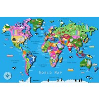 World Map 60 pc Children Puzzle